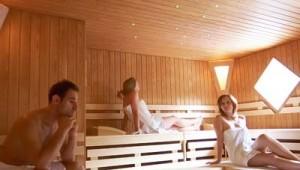 ROBINSON Club Arosa große Sauna im schönen WellFit Wellnessbereich