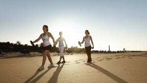 ROBINSON Club Jandia Playa Nordic Walking am Morgen direkt am Strand