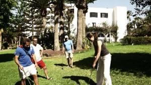 ROBINSON Club Jandia Playa Minigolf in der großen Gartenanlage