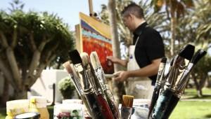 ROBINSON Club Jandia Playa Kunstatelier unter freiem Himmel im Garten