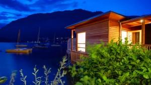 ROBINSON Club Landskron WellFit Sauna mit Ausblick auf den Ossiacher See