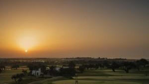 ROBINSON Club Quinta da Ria Sonnenuntergang über dem Golfplatz