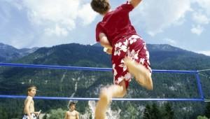 ROBINSON Club Schlanitzen Alm Volleyballfeld inmitten der Bergwelt