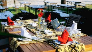 CLUB MAGIC LIFE Kemer Imperial Restaurant im Garten mit tollem Meerblick