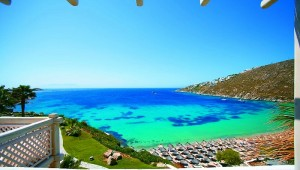 GRECOTEL Mykonos Blu Überblick über die Bucht direkt vor Ihrem Hotel