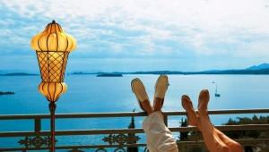 GRECOTEL Eva Palace Ausblick auf das Meer von Ihrem Zimmer aus