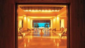 GRECOTEL Kos Imperial Thalasso Eingang mit Lobby, Check-In und Rezeption