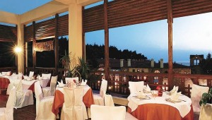 CLUB CALIMERA Simantro Beach Restaurant auf der Veranda mit tollem Meerblick
