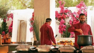 GRECOTEL Marine Palace Suites Show-Cooking der Köche am Buffet