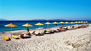 FUN CLUB Gaia Royal Village Ausblick auf den Strand und das blaue Meer