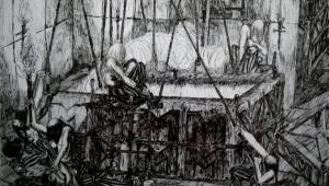Peter Wächtler Studium Maximum Ausstellung in der Diko Reisen Kunstgalerie