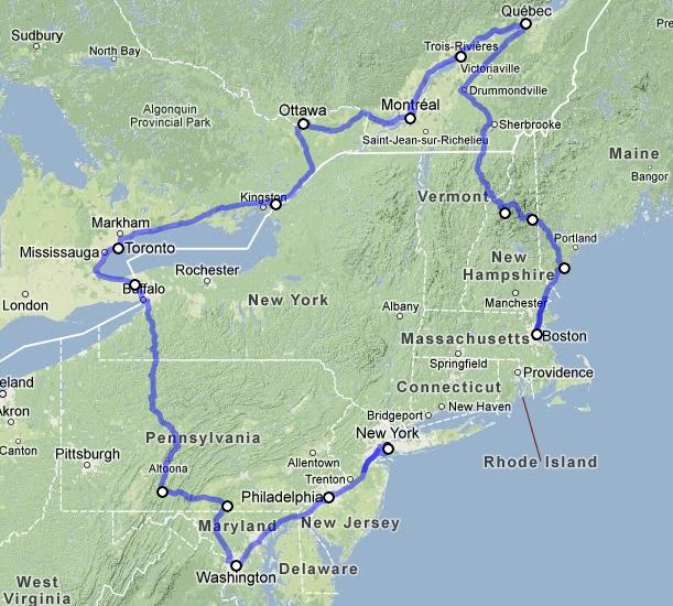 Tour Canada From Boston