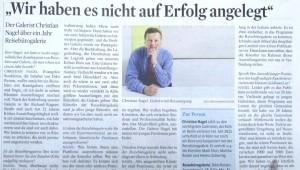 Diko Reisen Pressetext Nagel Stadtanzeiger Reisebüro Köln mit Reisen, Kunst & Events