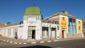 Namibia Rundreise Selbstfahrer Lesehalle in Lüderitz alte Kolonialbauten