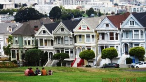 Rundreise USA Westküste Painted Ladies Reihenhäuser in San Francisco