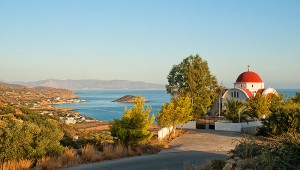ALDIANA Kreta Blick vom Hang auf die wunderschöne Bucht von Mochlos