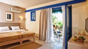 ALDIANA Kreta modernes Doppelzimmer mit Terrasse und Gartenblick