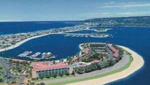 Rundreise USA Westen Das Hotel Bahia Resort in San Diego liegt direkt am tollen Strand