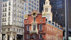 USA Rundreise Ostküste das Old State House das älteste noch stehende öffentliche Gebäude in Boston