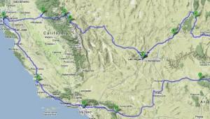 West USA Rundreise Die Route führt von Las Vegas über die Megacitys L.A. und San Francisco