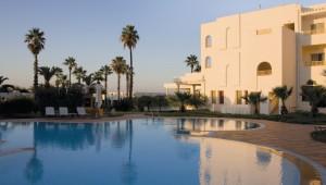 ALDIANA Tunesien Überblick über den Pool und die große Gartenanlage