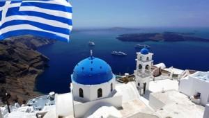 Inselhopping Griechenland Ausblick auf das Meer und den Vulkan Caldera