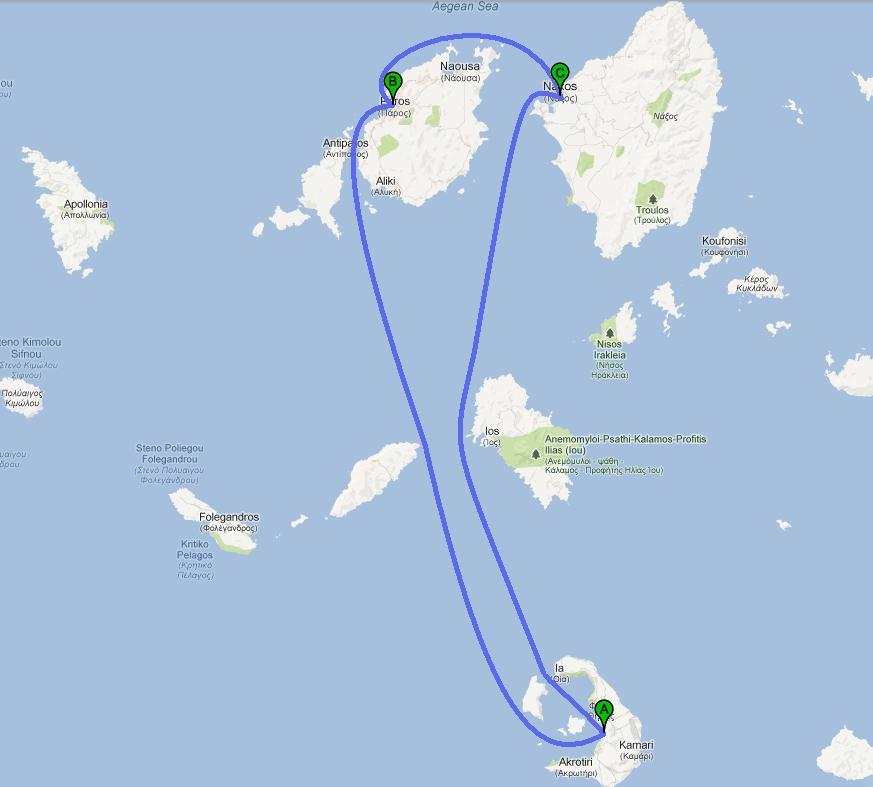 Kykladen Karte.Inselhopping Griechenland Kykladen Rundreise Online Buchen