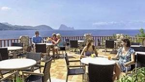 CLUB CALIMERA Delfin Playa Terrasse mit tollem Ausblick auf das Meer