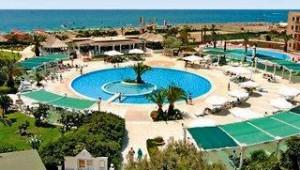 CLUB CALIMERA Kaya Side Überblick über den Pool und tollen Blick auf das Meer