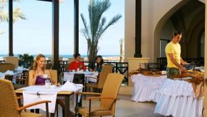 CLUB MAGIC LIFE Kalawy Imperial Cafe Terrasse mit tollem Blick auf das Meer