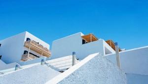 GRECOTEL Mykonos Blu Bungalowanlage mit Balkonen und direkter Strandlage