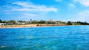 GRECOTEL Olympia Riviera Thalasso Ausblick auf den wunderschönen Sandstrand