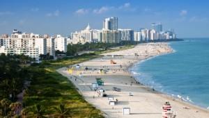 Rundreise Florida Überblick über den Strand von Miami Beach