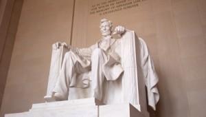 USA Ostküste Reise Statue von Abraham Lincoln im Lincoln Memorial Washington