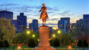 USA Ostküste Reise George Washington Statue im Boston Public Garden
