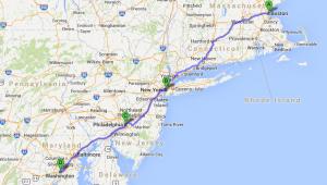 USA Ostküste Reise Route Boston - New York - Philadelphia - Washington