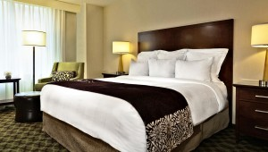USA Ostküste Reise großzügiges Zimmer im Marriott Hotel in Philadelphia