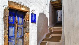 Inselhüpfen Griechenland - Straßen auf Patmos
