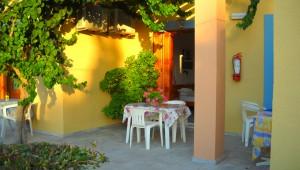 Inselhüpfen Griechenland Amphitrite Hotel Terrasse Studio