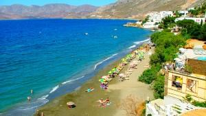 Inselhüpfen Griechenland Ausblick auf den Strand Kalymnos