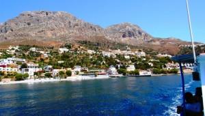 Inselhüpfen Griechenland - Ausblick auf den Strand auf Kalymnos