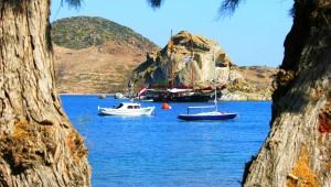 Inselhüpfen Griechenland Schiffe auf Patmos
