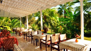 Inselhüpfen Griechenland Hotel Cavo D'oro Terrasse