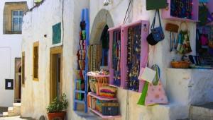 Inselhüpfen Griechenland Skala Läden Patmos