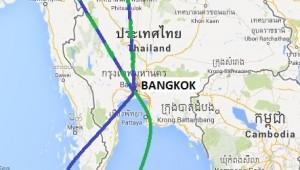 Hier sehen Sie die Route Ihrer Thailand Rundreise mit Start in Chiang Mai