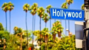 West USA Rundreise Ein typisches Hollywood Boulevard Schild in Los Angeles
