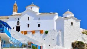 Inselhüpfen Sporaden Kirche von Skopelos
