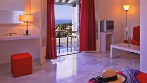 Inselhüpfen Sporaden - Hotel Atrium Zimmer mit Meerblick