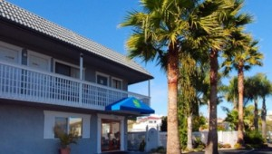 Rundreise Westküste USA Quality Inn Pismo Beach - Eingang