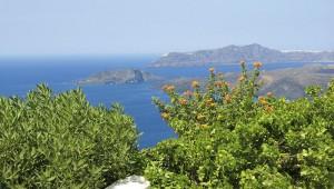 Inselhopping Griechenland Reise Aegagros Caldera Houses Ausblick